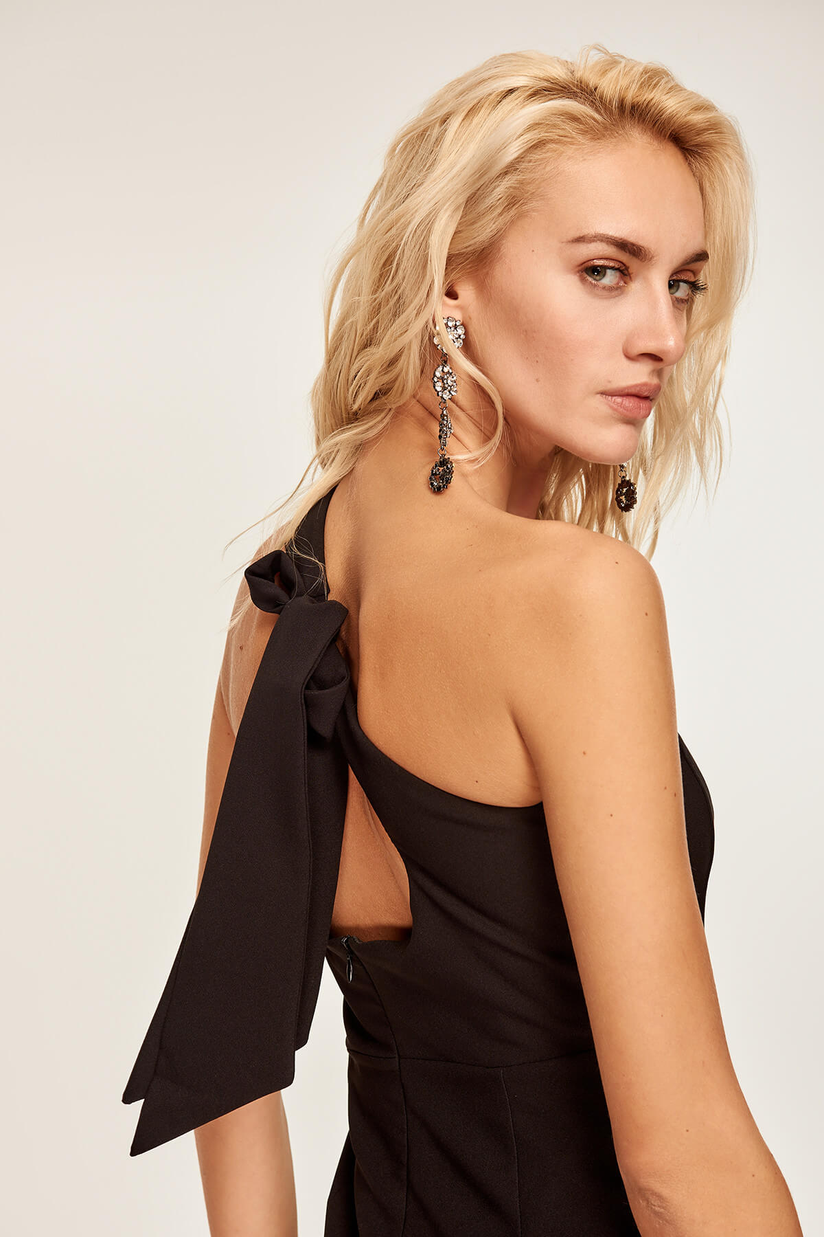 Black Bow Detail Dress - emuuz.com