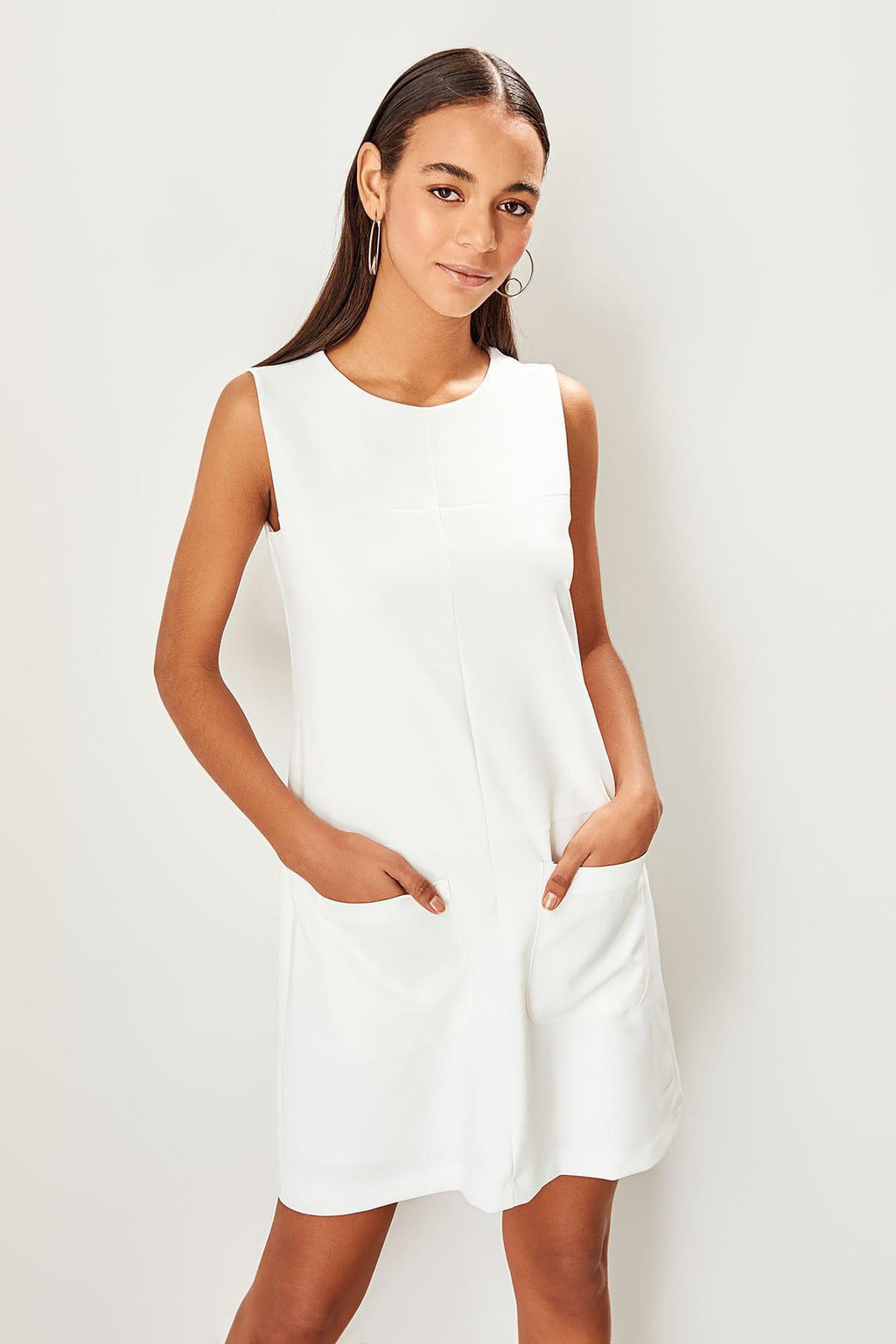 Ecru Basic Dress - emuuz.com