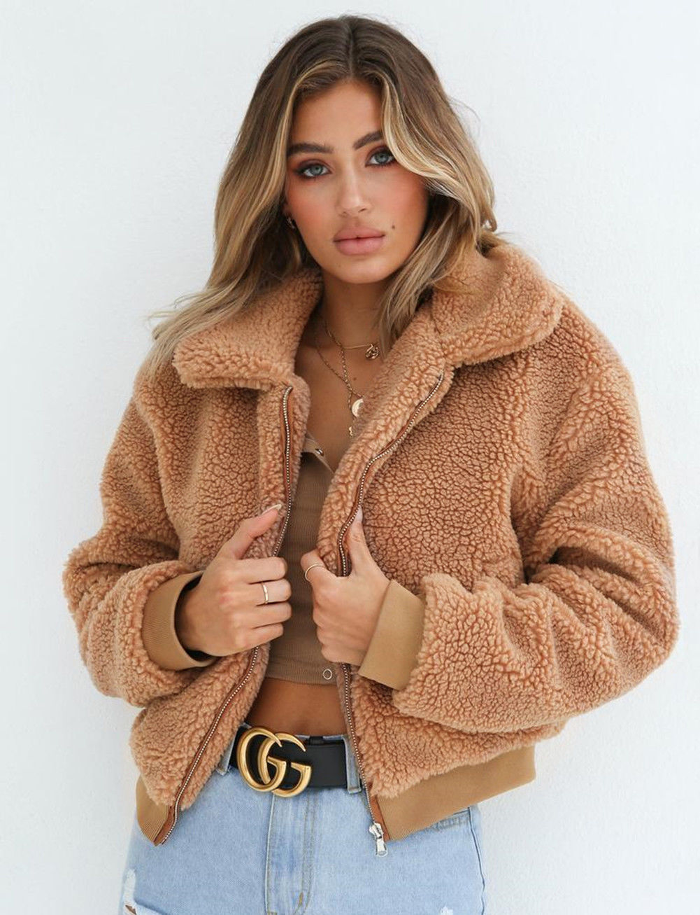 Fluffy Long Sleeve Jacket