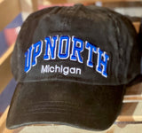 Up North Michigan Black Baseball Cap