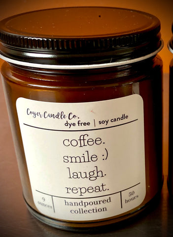 Candle - Coffee Smile Laugh Repeat