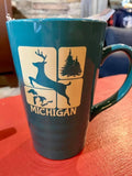 Michigan Ceramic Travel Mug With Lid