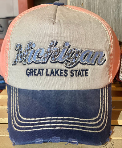 Michigan Tri-Color Baseball Cap