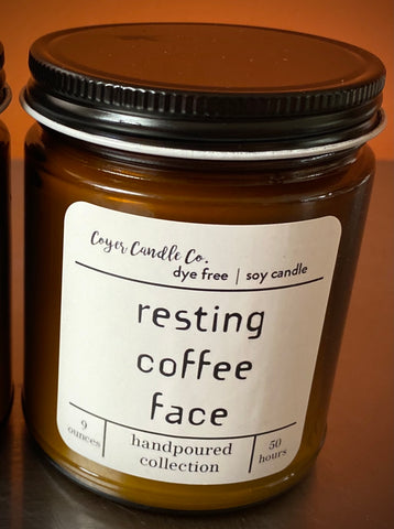 Candle - Resting Coffee Face