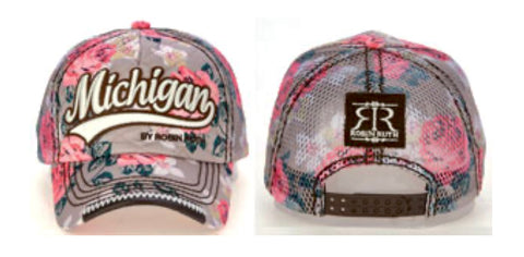 Michigan Floral Robin Ruth Cap