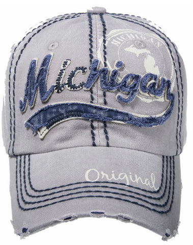 Michigan Gray Original Baseball Cap
