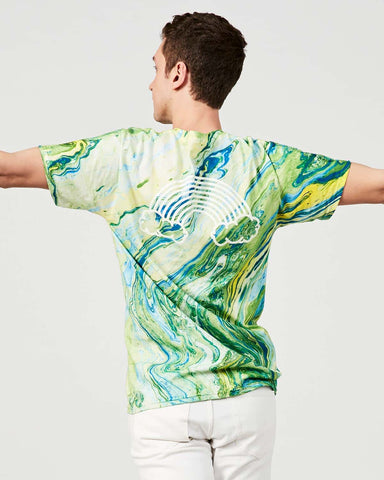 Green Marble Rainbow – T-shirt