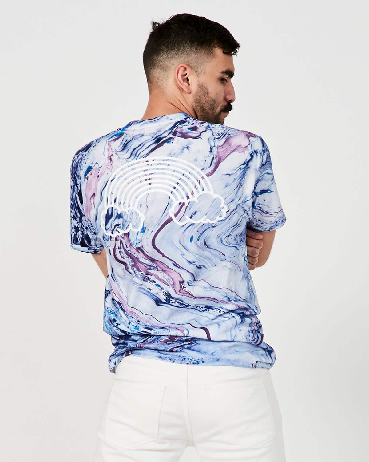 Purple Marble Rainbow – T-shirt