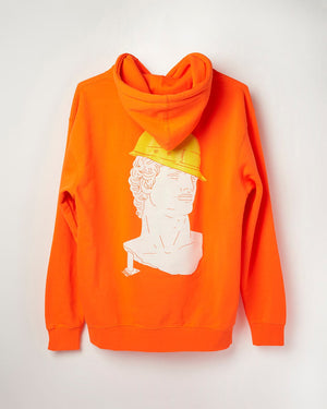 Safety Orange Full Service David – Hoodie