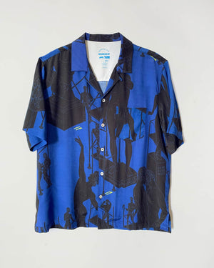 Amit Blue and Black Tom's Full Service – Camp Shirt