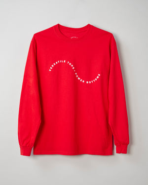 Squiggle Long Sleeve Shirt - Red
