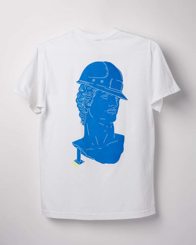 White and Amit Blue Bust – Heavyweight T-shirt