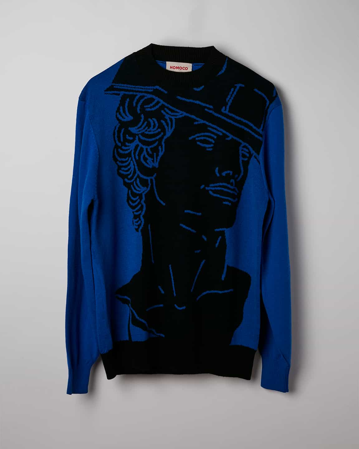 Amit Blue and Black Bust – Sweater