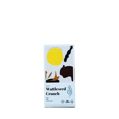 Melbourne Bushfood Wattleseed Crunch Milk Chocolate - NOTWASTED - Natural Wine Online Australia Delivery Sydney