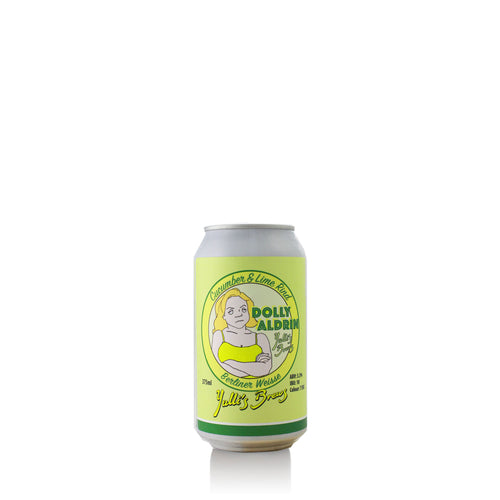 Yulli's Brews 'Dolly Aldrin' Cucumber & Lime Rind Berliner Weisse - 4 Pack