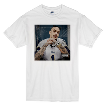 "Load image into Gallery viewer, ""All Eyes On Me Album"" Short-Sleeve White Mr. Criminal T-Shirt"