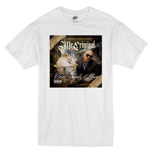 "Load image into Gallery viewer, ""Crime Family Album"" Short-Sleeve White Mr. Criminal T-Shirt"