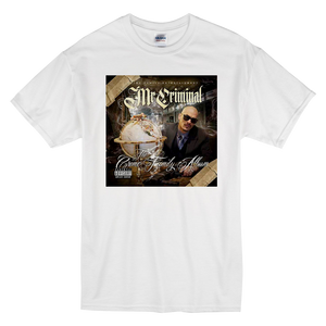 """Crime Family Album"" Short-Sleeve White Mr. Criminal T-Shirt"