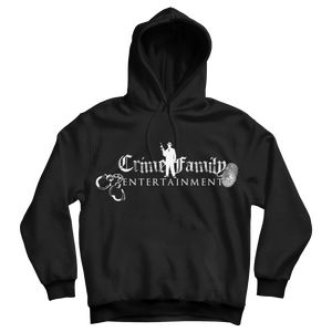 """Crime Family"" Black Cotton Sweatshirt Hoodie by Mr. Criminal"