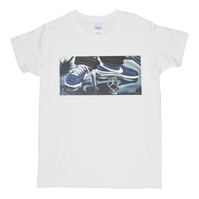 "Load image into Gallery viewer, ""Cruisin'"" Blue Line Limited Edition Short-Sleeve Women's Mr. Criminal T-Shirt"