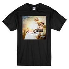 "Load image into Gallery viewer, ""Palm Trees & Sunsets Album"" Short-Sleeve Black Mr. Criminal T-Shirt"