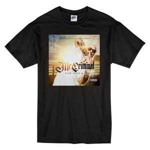"""Palm Trees & Sunsets Album"" Short-Sleeve Black Mr. Criminal T-Shirt"