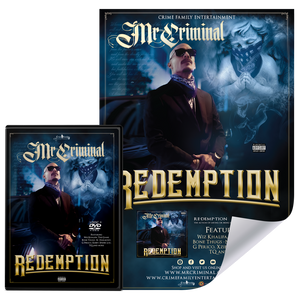 Redemption by Mr. Criminal Package – 3 Disc Album plus DVD w/ Hand Signed Movie Size Poster