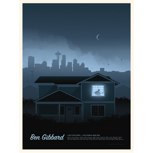 Signed Ben Gibbard-Live from Home Poster