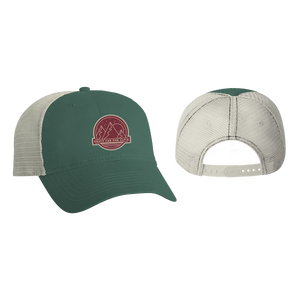 Moon Mountain Green Trucker Hat