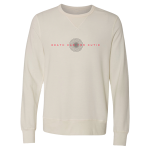 In Bloom Ivory Garment Dyed French Terry Pullover Crewneck Sweatshirt