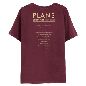15th Anniversary Plans Album Tee - Burgundy