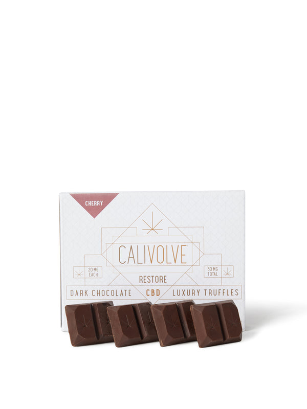 best hemp infused chocolate edible CBD relaxing soothing calming tasty cherry flavors