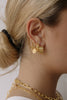 Braided gold hoops