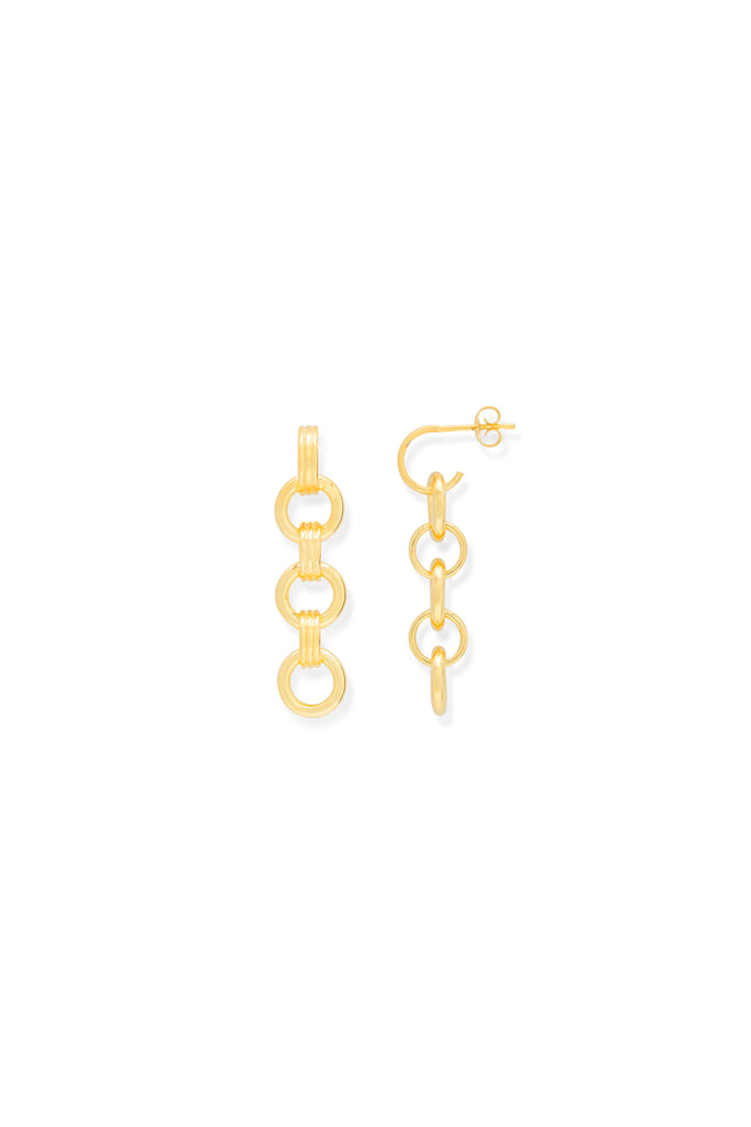 Chain loop earrings