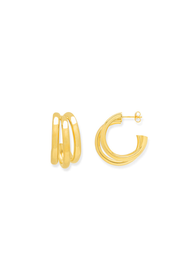 Layer up hoop earrings