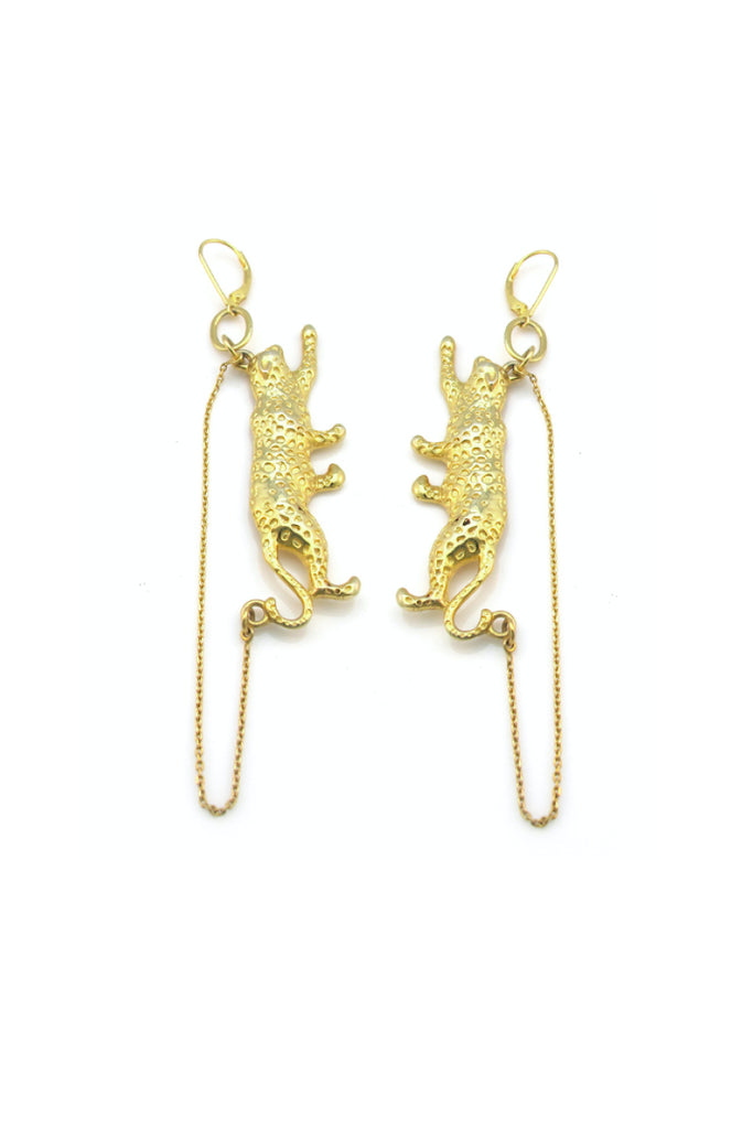 Feisty Feline earrings - Gold