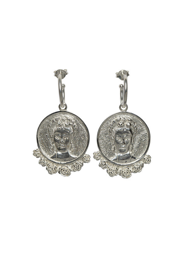 Frida Kahlo hoop earrings