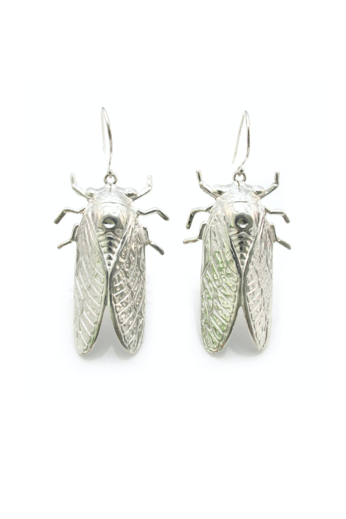 CICADA EARRINGS - SILVER