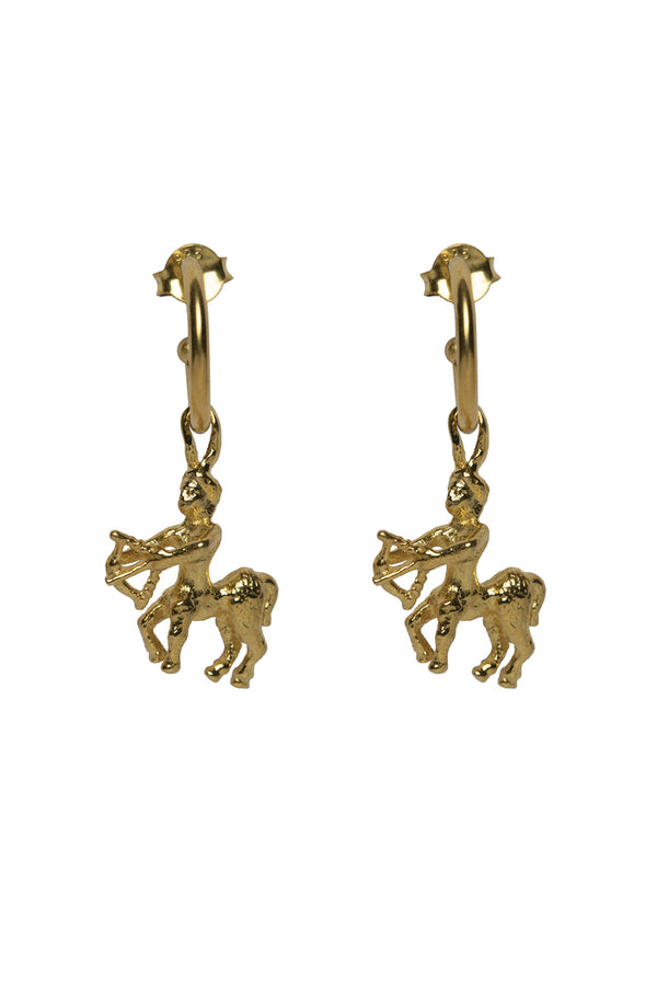Sagittarius Zodiac Hoop Earrings
