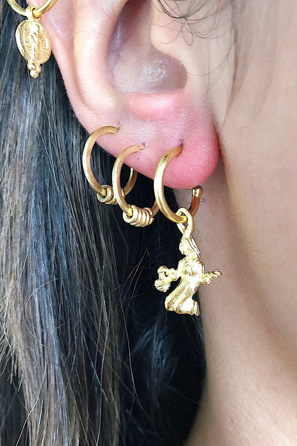 Aquarius Zodiac Hoop Earrings