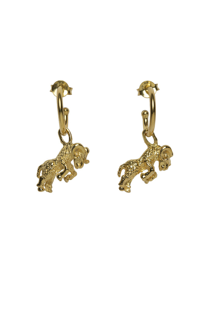 Aries Hoop Earrings