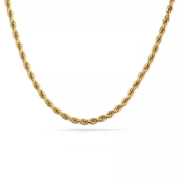 Y2K twisted chain necklace