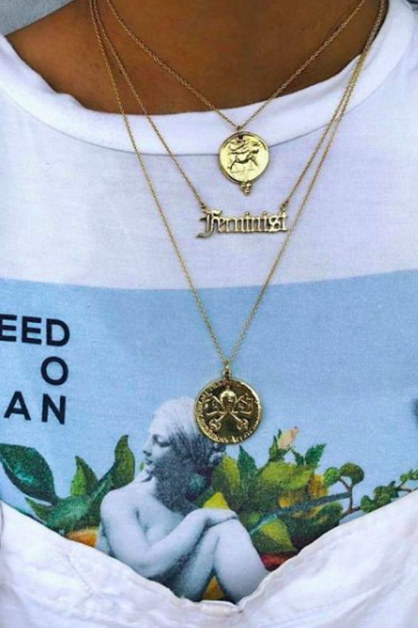 FEMINIST NECKLACE - GOLD