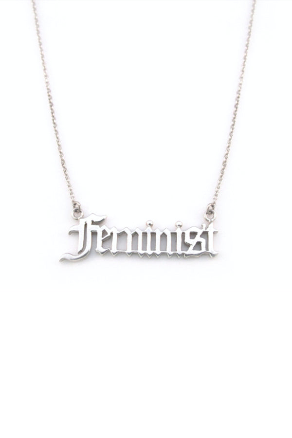 FEMINIST NECKLACE - SILVER