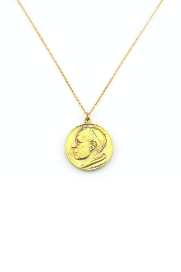 ROMAN COIN NECKLACE - GOLD
