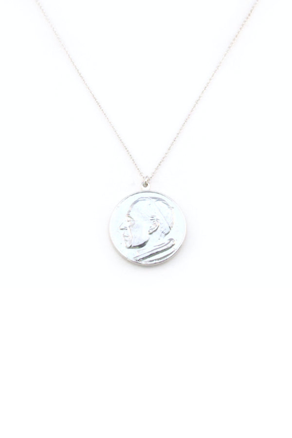 ROMAN COIN NECKLACE - SILVER