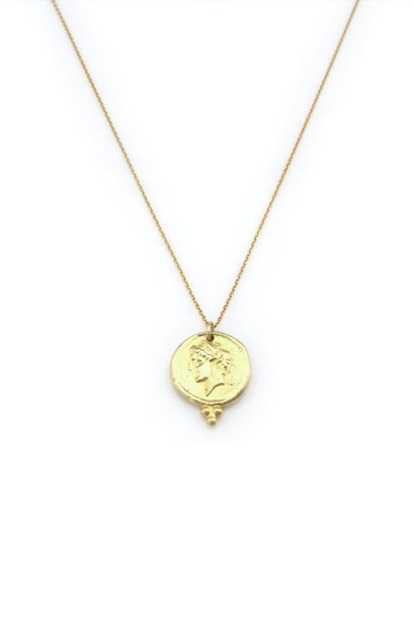 VINTAGE COIN NECKLACE - GOLD
