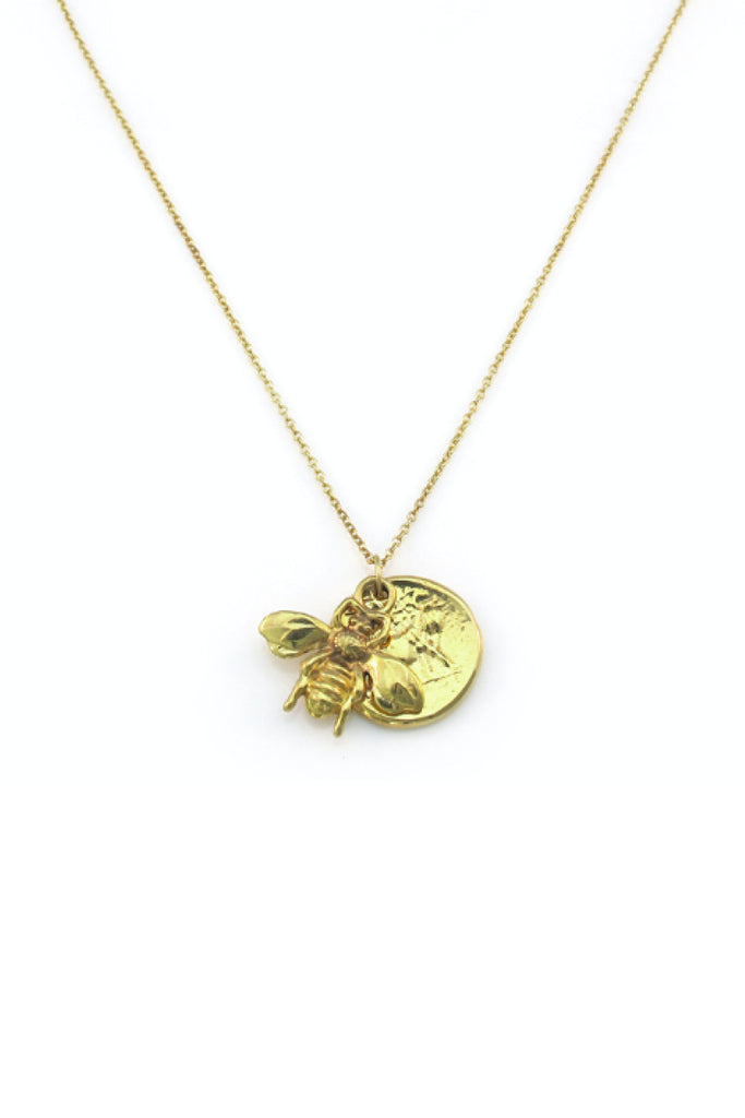 BEE MINE COIN NECKLACE - PRE ORDER
