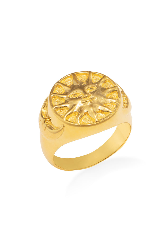 Enchanted sun moon ring