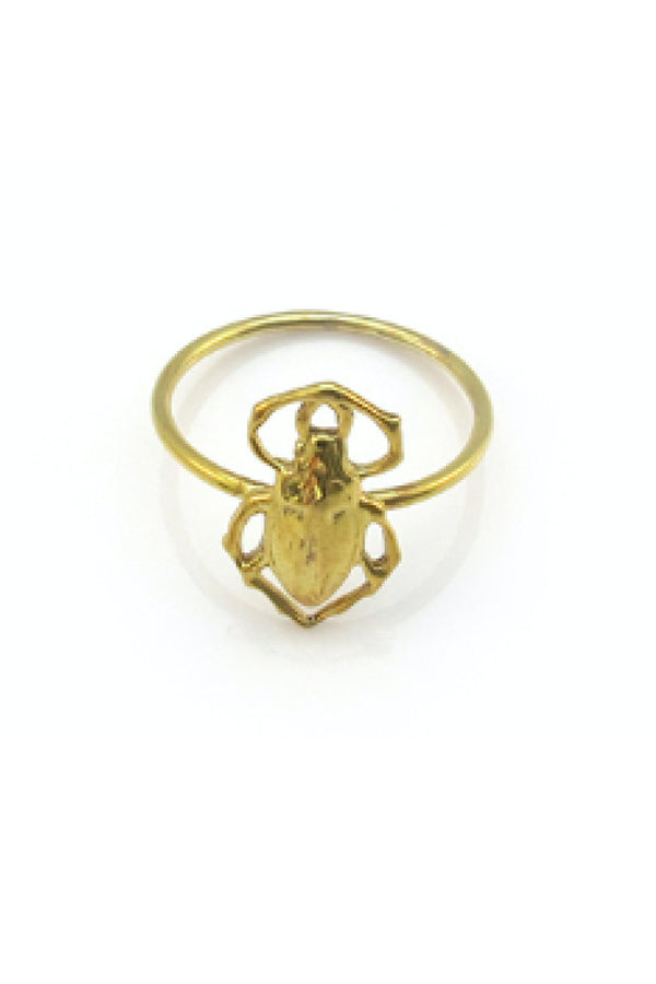 SCARAB BEETLE RING - GOLD
